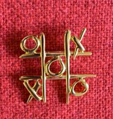 Tic Tac Brooch /pin in Lockport, Illinois