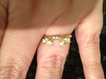 REDUCED! 14K Yellow Gold and Diamond Solitaire Ring Enhancer Guard in Warner Robins, Georgia
